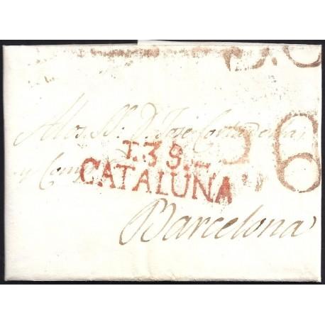 1820. ESPAÑA. SPAIN. TARRAGONA A BARCELONA.