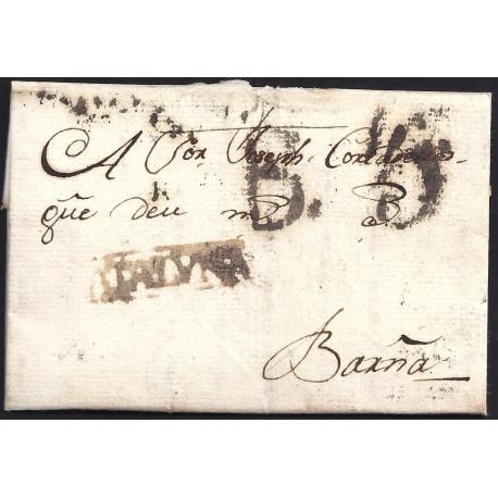 1797. ESPAÑA. SPAIN. VACARISSES A BARCELONA.
