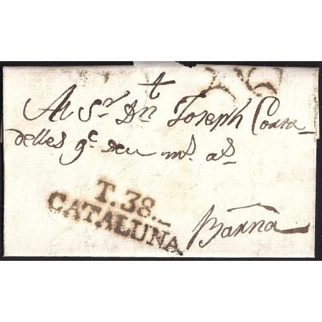 1805. ESPAÑA. SPAIN. VALLBONA A BARCELONA.