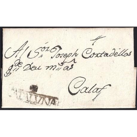 1791. ESPAÑA. SPAIN. SANAHUJA A CALAF.