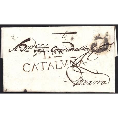 1798. ESPAÑA. SPAIN. TARRAGONA A BARCELONA.