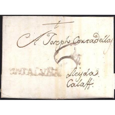 1790. ESPAÑA. SPAIN. REUS A CALAF.