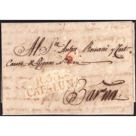 1830. ESPAÑA. SPAIN. REUS A BARCELONA.