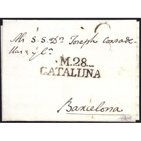 1817. ESPAÑA. SPAIN. MASOS DE MORA A BARCELONA.