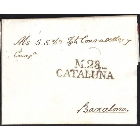 1816. ESPAÑA. SPAIN. MASOS DE MORA A BARCELONA.