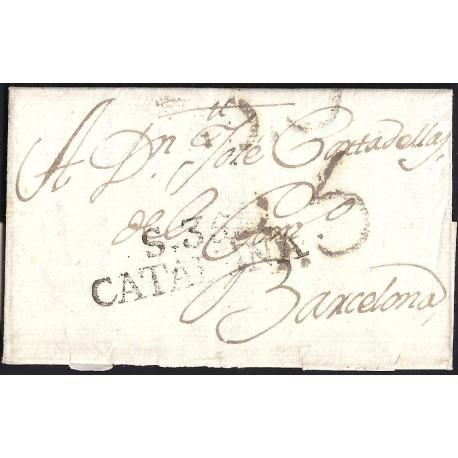 1803. ESPAÑA. SPAIN. PALAMÓS A BARCELONA.