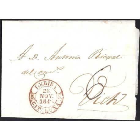 1842. ESPAÑA. SPAIN. LLEIDA A VIC.