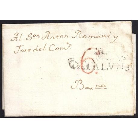 1825. ESPAÑA. SPAIN. SURIA A BARCELONA.