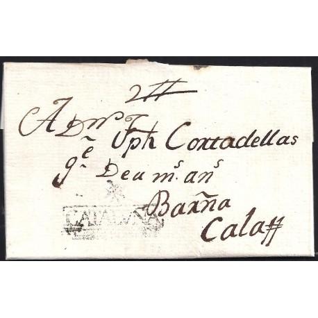 1801. ESPAÑA. SPAIN. MASOS DE MORA A CALAF.