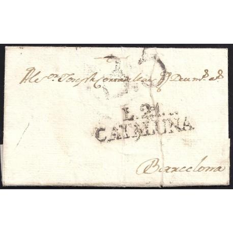 1804. ESPAÑA. SPAIN. SARRIA A BARCELONA.
