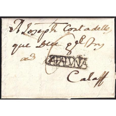 1782. ESPAÑA. SPAIN. LLEIDA A CALAF.