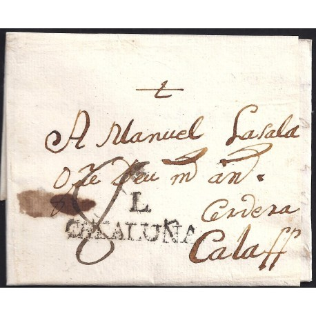 1791. ESPAÑA. SPAIN. LLEIDA A CALAF.