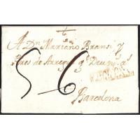 1772. ESPAÑA. SPAIN. IGUALADA A BARCELONA.