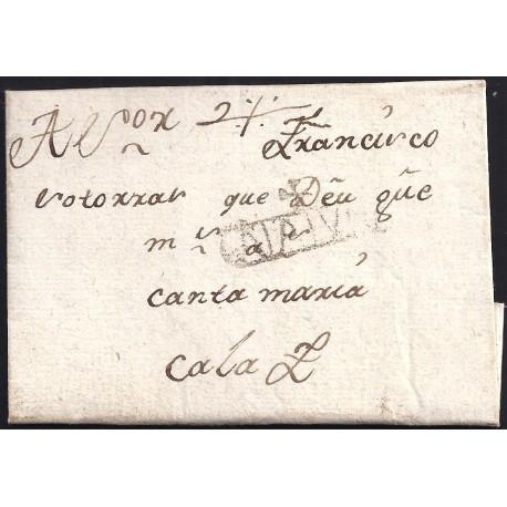 1791. ESPAÑA. SPAIN. IGUALADA A CALAF.