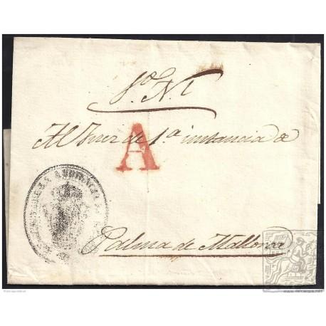 S/F. 1846. ESPAÑA. SPAIN. MADRID A PALMA DE MALLORCA.