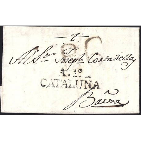 1817. ESPAÑA. SPAIN. CUBELLS A BARCELONA.
