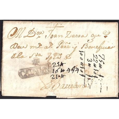 1767. ESPAÑA. SPAIN. GERONA A BARCELONA.