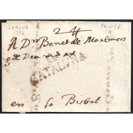 1794. ESPAÑA. SPAIN. GIRONA A LA BISBAL.