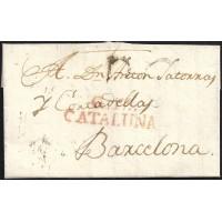 1818. ESPAÑA. SPAIN. LLAGOSTERA A BARCELONA.