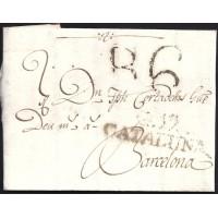 1805. ESPAÑA. SPAIN. SARRIA A BARCELONA.