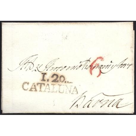 1827. ESPAÑA. SPAIN. CAPELLADES A BARCELONA.