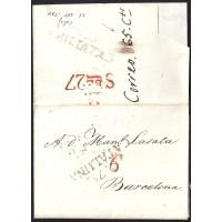 1830. ESPAÑA. SPAIN. CALAF A BARCELONA.
