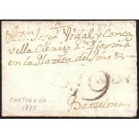1775. ESPAÑA. SPAIN. CARTAGENA A BARCELONA.