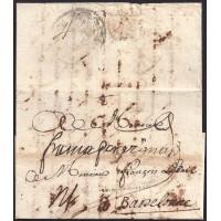 1725. ESPAÑA. SPAIN. TOULOUSE A BARCELONA.