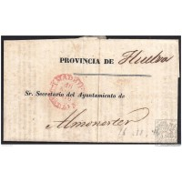 1846. ESPAÑA. SPAIN. MADRID A ALMONASTER.