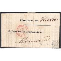 1846. ESPAÑA. SPAIN. MADRID A ALMONASTER.