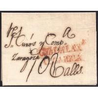 1818. ESPAÑA. SPAIN. GUADALAJARA A VALLS.