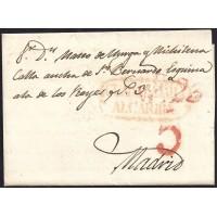 1839. ESPAÑA. SPAIN. GUADALAJARA A MADRID.