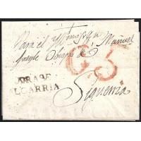 1828. ESPAÑA. SPAIN. PINILLA DE LAS MONJAS A SIGUENZA.