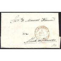 1851. ESPAÑA. SPAIN. SACEDON A ALCALA DE HENARES.