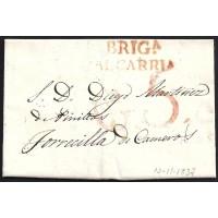 1837. ESPAÑA. SPAIN. BRIHUEGA A TORRECILLA DE CAMEROS.