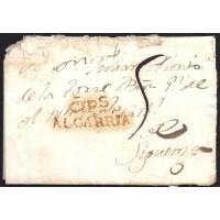 1819. ESPAÑA. SPAIN. CIFUENTES A SIGUENZA.