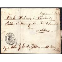 CORREO MARITIMO. REGISTRO DE EMBARQUE. 1858. ESPAÑA. SPAIN. LA HABANA A CARDENAS.