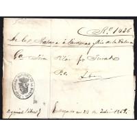 CORREO MARITIMO. REGISTRO DE EMBARQUE. 1859. ESPAÑA. SPAIN. LA HABANA A CARDENAS Y RIO DE LA PALMA.