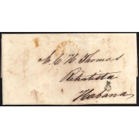 CORREO MARITIMO. 1849. ESPAÑA. SPAIN. NUEVA YORK A LA HABANA.