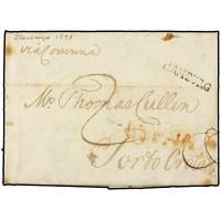 CORREO MARITIMO. 1791. ESPAÑA. SPAIN. HAMBURGO A PUERTO DE OROTAVA.
