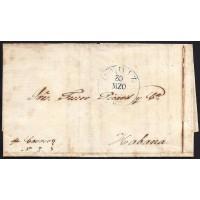 CORREO MARITIMO. 1839. ESPAÑA. SPAIN. CADIZ A LA HABANA.