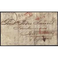 CORREO DESINFECTADO. 1835. ESPAÑA. SPAIN. MARSEILLE. MARSELLA A BARCELONA.