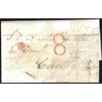 CORREO DESINFECTADO. 1841. ESPAÑA. SPAIN. VALENCIA A CARTAGENA.