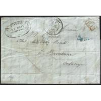 CORREO DESINFECTADO. 1841. ESPAÑA. SPAIN. SAINT REMY A BARCELONA.