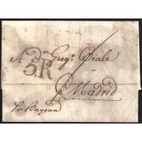 CORREO DESINFECTADO. 1817. ESPAÑA. SPAIN. MARSEILLE. MARSELLA A MADRID.