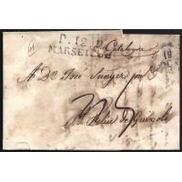 CORREO DESINFECTADO. 1818. ESPAÑA. SPAIN. MARSEILLE. MARSELLA A SANT FELIU DE GUIXOLS.