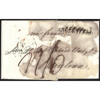 CORREO DESINFECTADO. 1819. ESPAÑA. SPAIN. MARSEILLE. MARSELLA A SANT FELIU DE GUIXOLS.