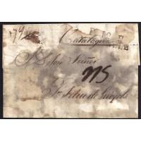 CORREO DESINFECTADO. 1827. ESPAÑA. SPAIN. MARSEILLE. MARSELLA A SANT FELIU DE GUIXOLS.