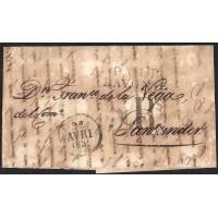 CORREO DESINFECTADO. 1831. ESPAÑA. SPAIN. BAYONNE. BAYONA A SANTANDER.