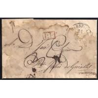 CORREO DESINFECTADO. 1833. ESPAÑA. SPAIN. MARSEILLE. MARSELLA A SANT FELIU DE GUÍXOLS.